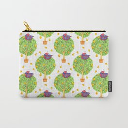 Partridge in a Pear Tree Pattern Carry-All Pouch