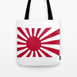 The rising sun Japemese flag in red and white Tote Bag