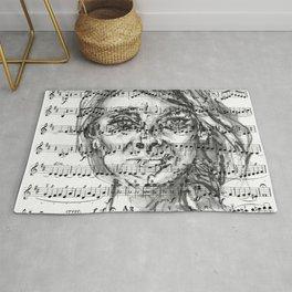 Music Sheet Girl 1 Rug