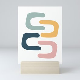 Pastel Chains Mini Art Print