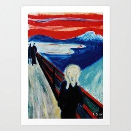 Etna Scream Art Print