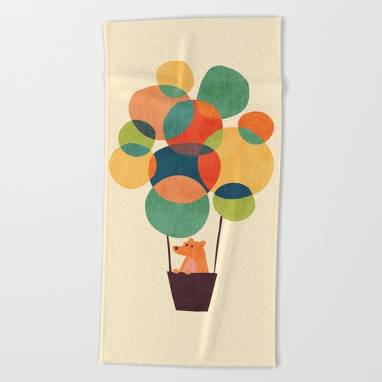 Whimsical Hot Air Balloon Beach Towel