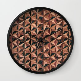 Copper pyramids Wall Clock