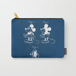 Mickey Mouse blue Patent Carry-All Pouch