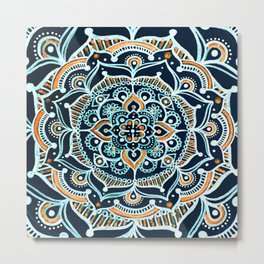 Bohemian Zen Mandala Metal Print