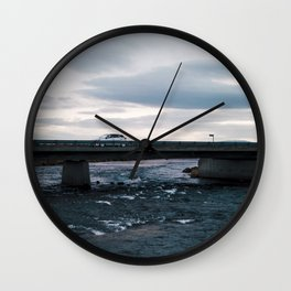 Iceland Bridge Wall Clock