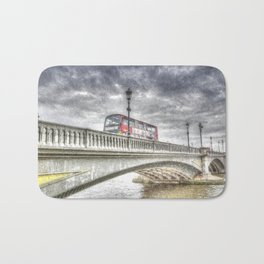 Battersea Bridge London Snow Bath Mat