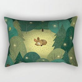 Enchanted Forest Baby Fawn Rectangular Pillow