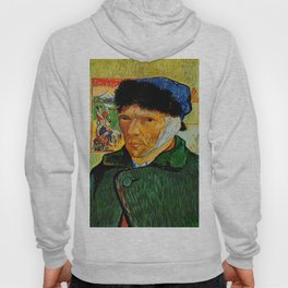 Van Gogh, Self-Portrait with Bandaged Ear and Pipe  – Van Gogh,Vincent Van Gogh,impressionist,post-i Hoody