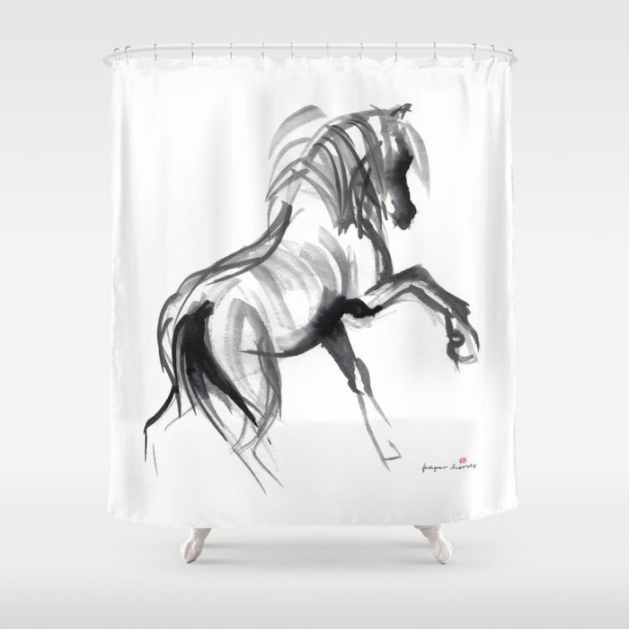 Wild Horse Bachelor Shower Curtain By Paperhorses