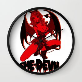 Diable Rouge Wall Clock