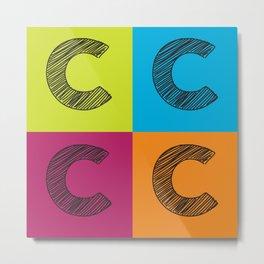 C Squared Metal Print