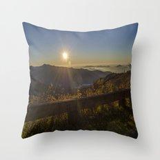 Sunrise on the Blue Ridge  Throw Pillow