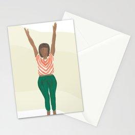 Ta Da Yoga Pose Stationery Cards