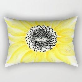 The Sunflower Eye Rectangular Pillow
