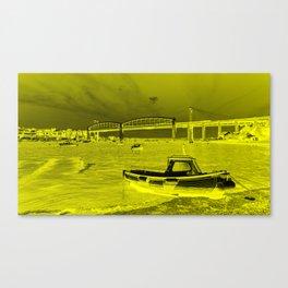 Yellow Albert Bridge  Canvas Print