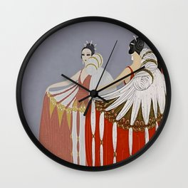 "Art Deco Design ""The Mirror"" by Erté Wall Clock"