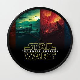 Star Force Awakens Wars Wall Clock