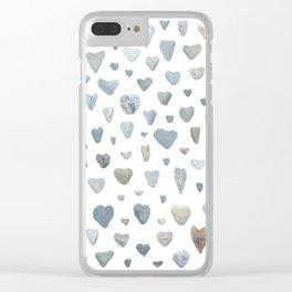 Heart rocks Clear iPhone Case