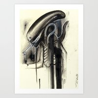 xenomorph Art Prints featuring Xenomorph by qtrnevermore