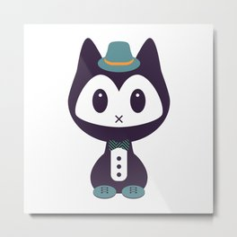 Cute kitten in formal clothes Metal Print