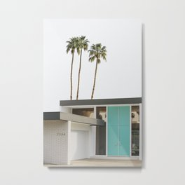 Mid Century Modern Architecture Photography - Palm Springs Metal Print