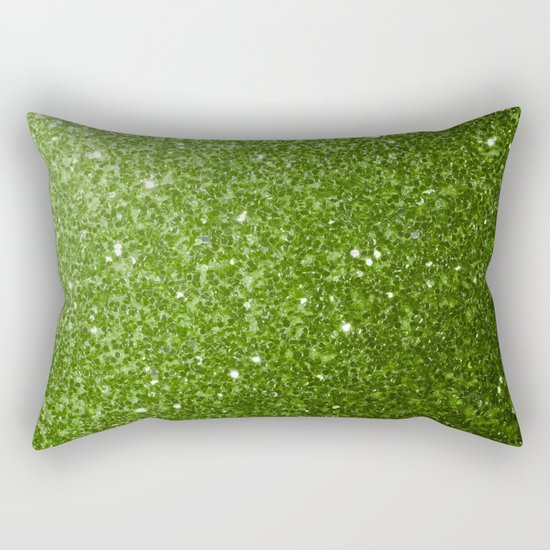 Beautiful Greenery Pantone glitter sparkles Rectangular Pillow