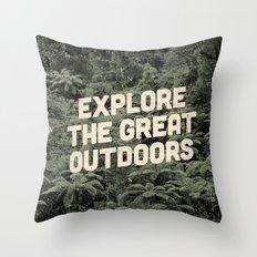 The Explorer Throw Pillow