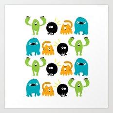 Monstrillos  Art Print
