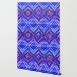Dreams of Painted Wood, Blue Wallpaper