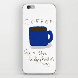 Blue Day Coffee iPhone Skin
