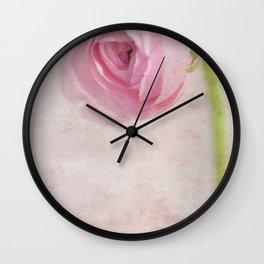 Ranunculus Wall Clock