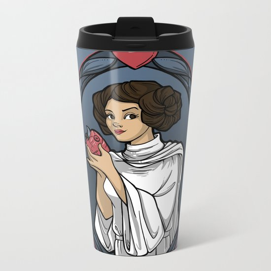 Snow Organa and the Poisoned Death Star Metal Travel Mug
