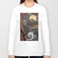 nightmare before christmas Long Sleeve T-shirts featuring Nightmare Before Christmas by Lacey Simpson