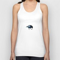 crow Tank Tops featuring Crow by Ridi Simone