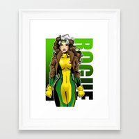 rogue Framed Art Prints featuring Rogue by Genevieve Kay