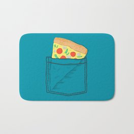 Emergency supply - pocket pizza Bath Mat