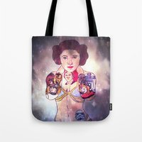 princess leia Tote Bags featuring Leia by Artistic