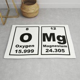 OMG Chemical Elements Funny Oxygen Magnesium Rug