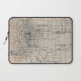 Vintage Map of Pasadena California (1894) Laptop Sleeve