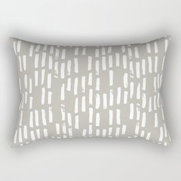 Brush Up Rain (White on Dove Grey) Rectangular Pillow