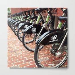 Boston Bike Share Metal Print