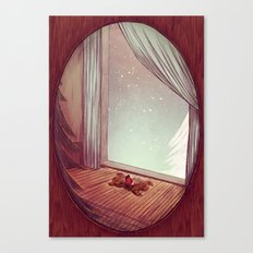 winter romance Canvas Print