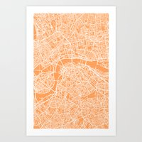 london map Art Prints featuring London Map by chiams