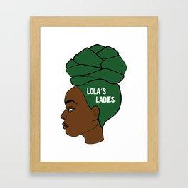 Lola's Ladies Framed Art Print