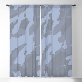 Colorful Marble Modern Light Blue Grey Blackout Curtain