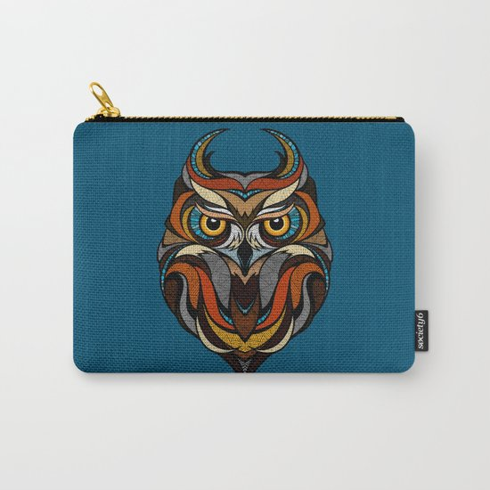 Oldschool Owl Carry-All Pouch