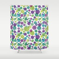bubble Shower Curtains featuring Bubble by Juana Villegas Escobar
