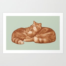 Seamus and Angus #thesnuggleisreal  Art Print