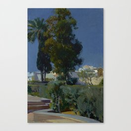 Joaquín Sorolla y Bastida (Spanish, 1863 - 1923) Corner of the Garden, Alcazar, Sevilla, 1910, Oil Canvas Print